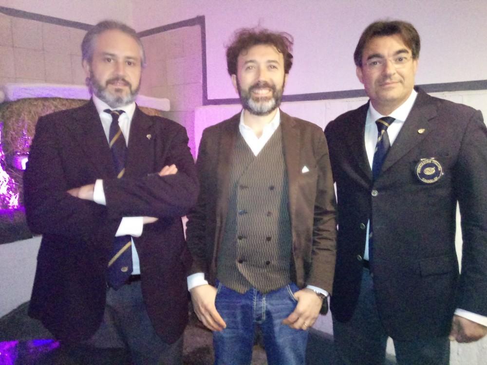 Da sx Vittorio Guerrazzi, Vincenzo Mercuirio e Nevio Toti