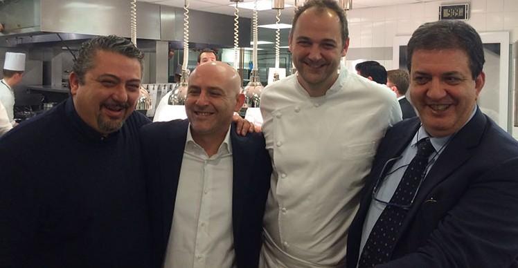 All'Eleven Madison con Daniel Humm. Peppe Di Martino e Albert Sapere