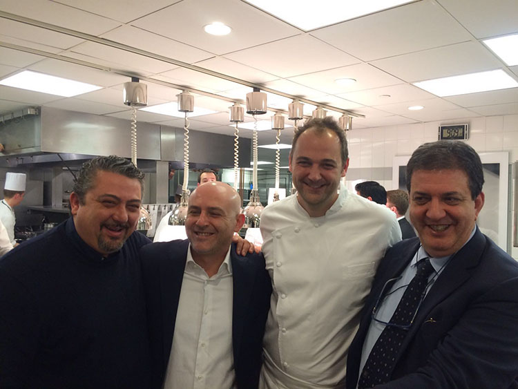 All'Eleven Madison con Daniel Humm. Peppe Di Martino e Albert Sapere