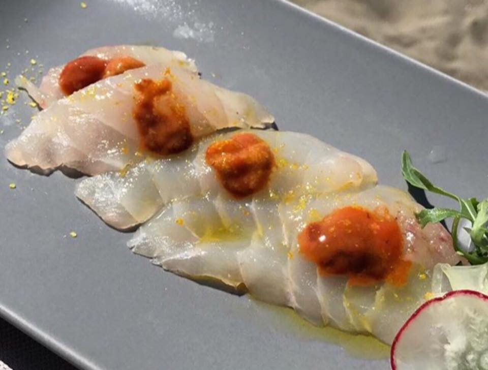 Crudo Bar, Sashimi di ricciola e riccio di mare