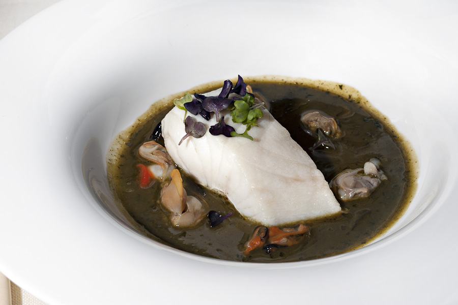 Franco Mare - Pesce Nero, zuppa di crescione d'acqua e frutti di mare