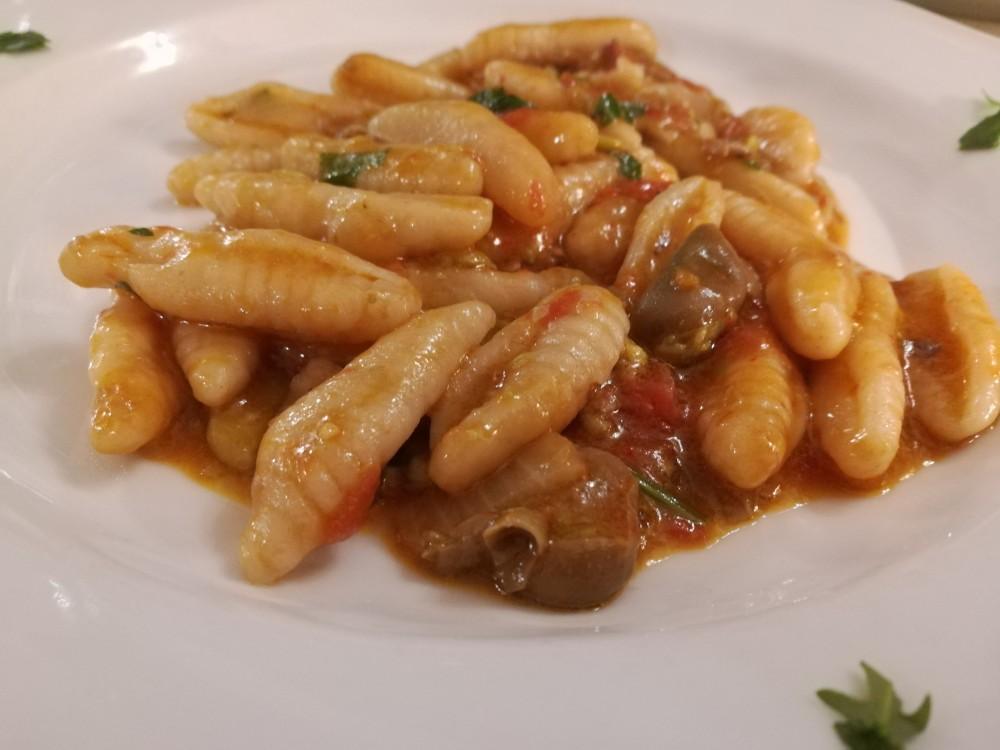 Il Melograno, cavatelli fave e pancetta
