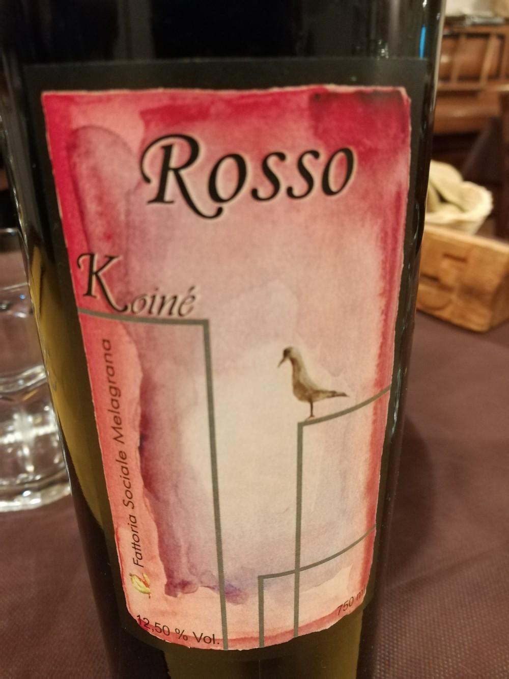 Koine' Soul Food, il vino rosso