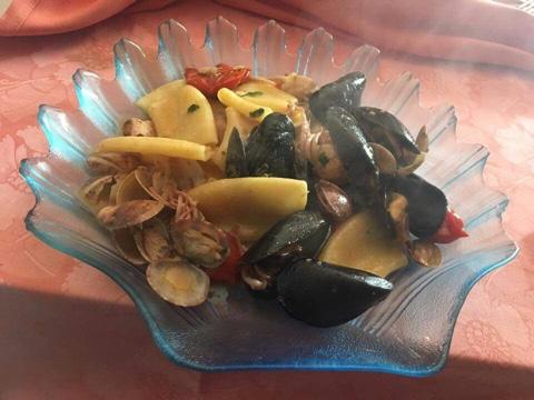 Ristorante Le Macine, Pacchedri ai frutti di mare