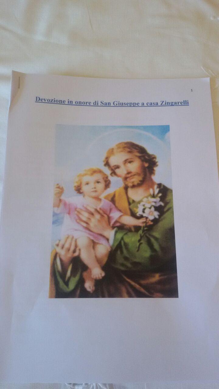 San Giuseppe, immaginetta