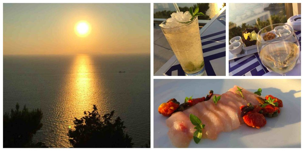 Relais Blu, aperitivo al tramonto