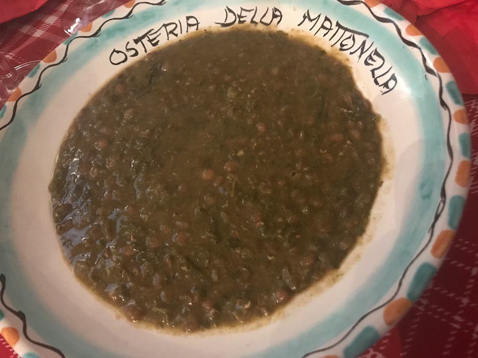 La Mattonella, la zuppa di lenticchie e broccoli