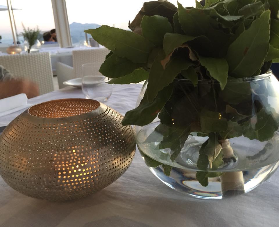 Relais Blu, dettaglio del tavolo