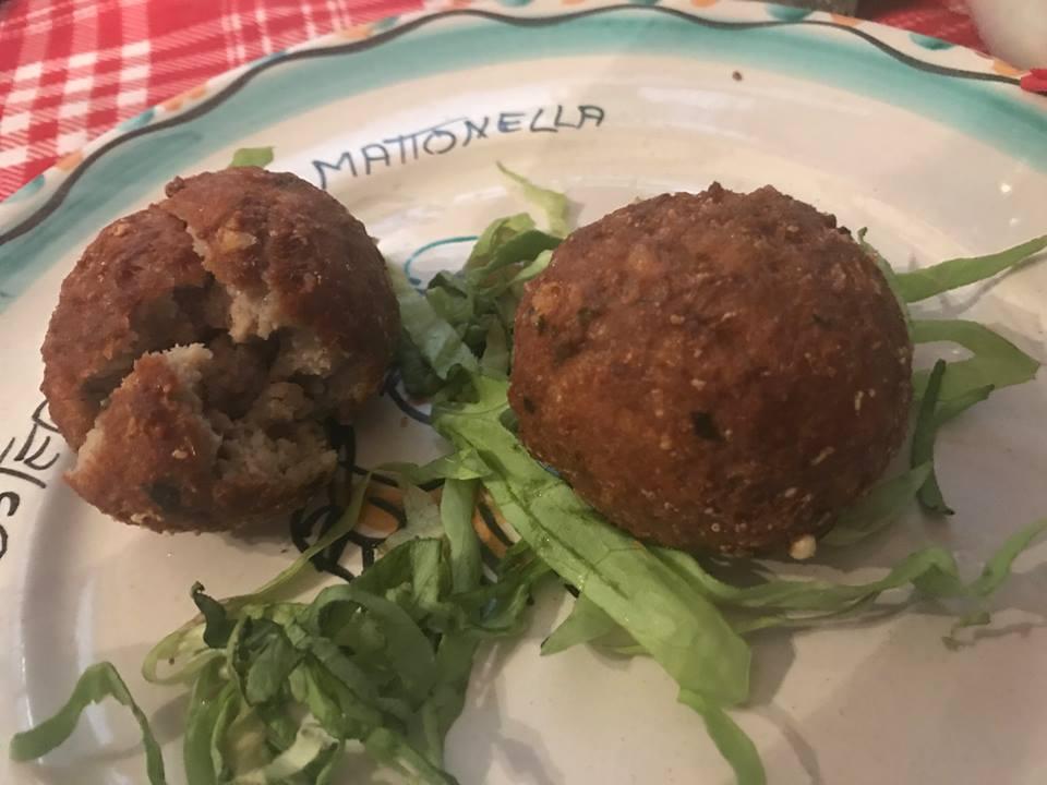 La Mattonella, le polpette fritte