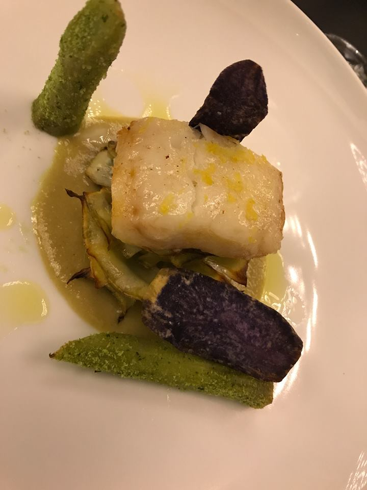 Casamatta del Vinilia Wine Resort - carciofo spinoso, baccala', crema di acciuga e patata violetta