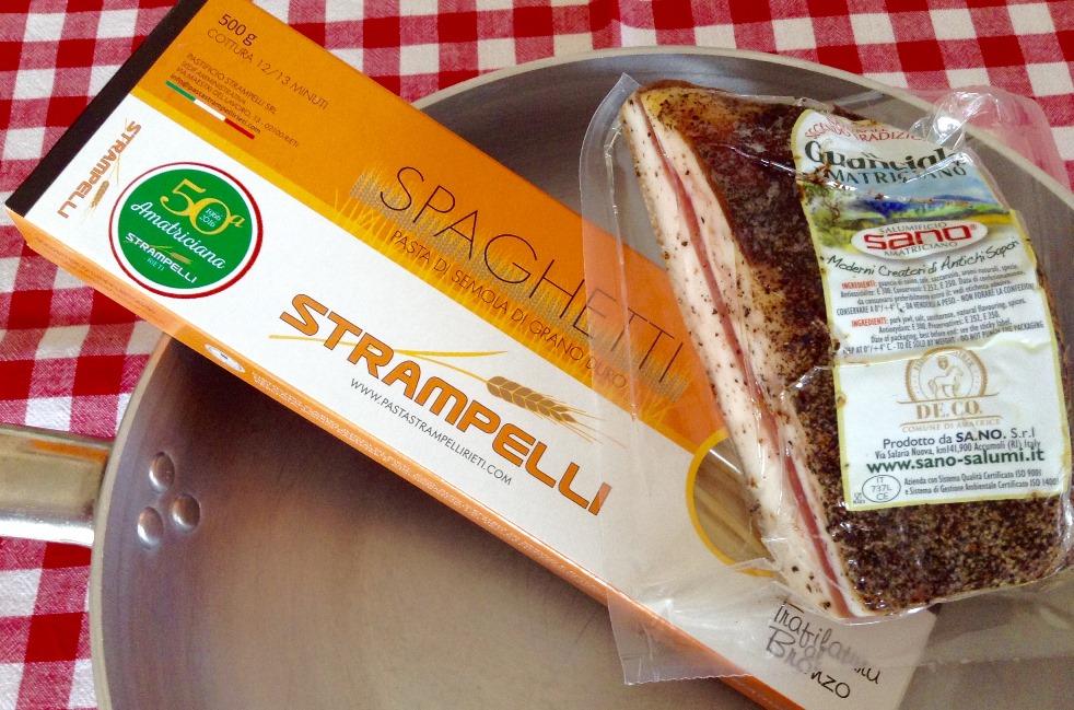 Amatriciana, spaghetti e guanciale dal territorio
