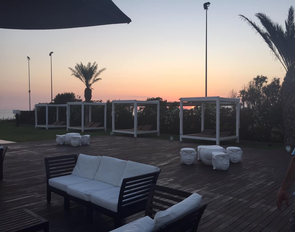 Beach Club 93, la zona relax al tramonto
