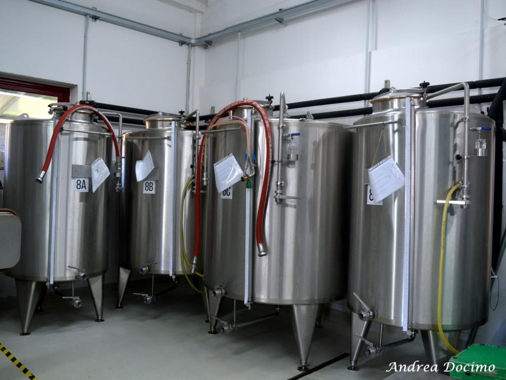 Birrificio Karma di Mario Cipriano ad Alife. I fermentatori