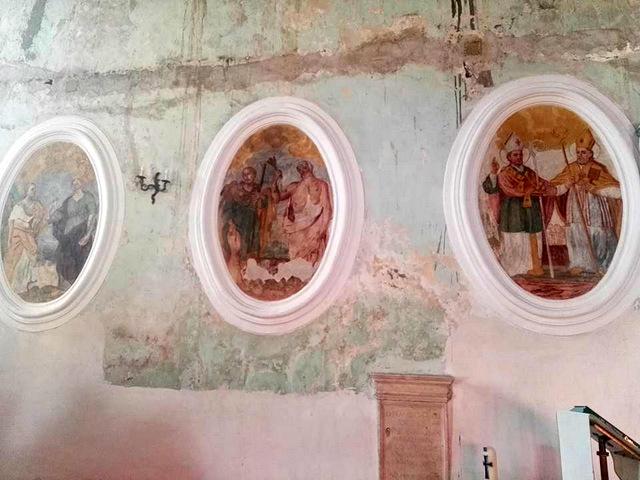 Borgo di Piedimonte di Casola Caserta gli affreschi della  Chiesa di san Rufo