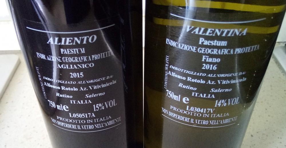 Controetichette vini di Alfonso Rotolo