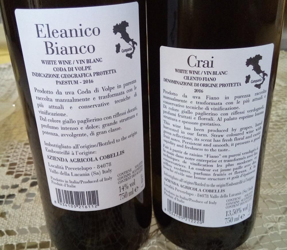 Controetichette vini di Cobellis