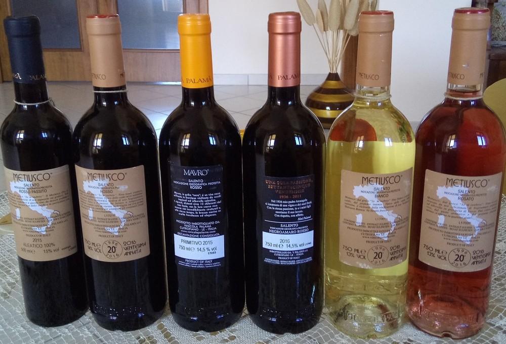 Controetichette vini di Palama'
