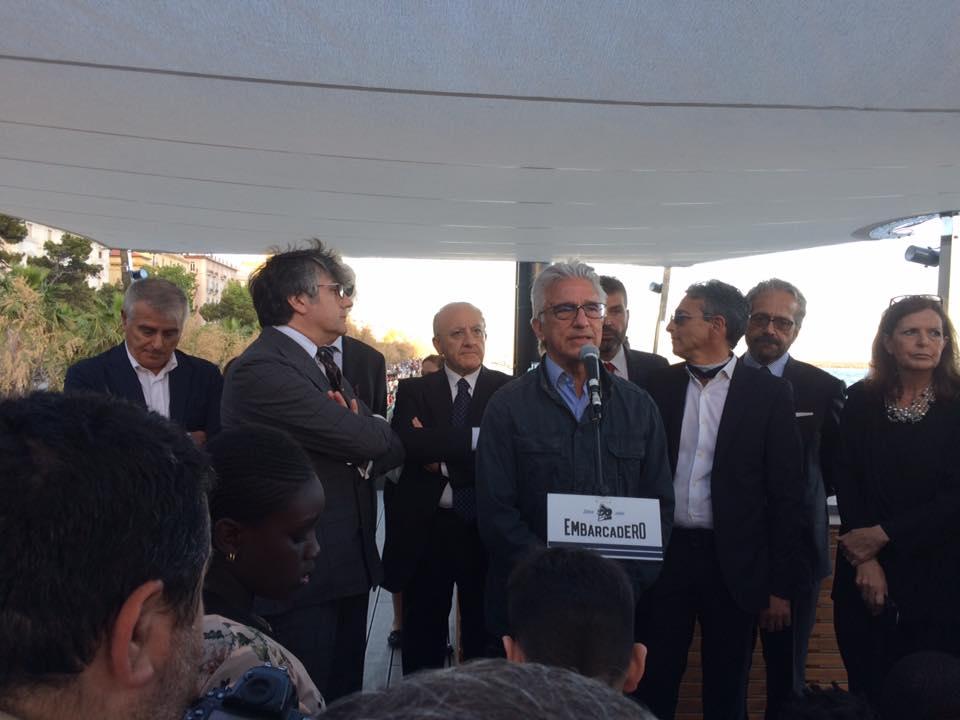 Embarcadero, il sindaco Napoli e il governatore De Luca
