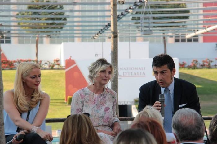 Dominga Cotarella, Catia Sulpizi e Andrea Baldanza (Capo di gabinetto della regione Lazio)