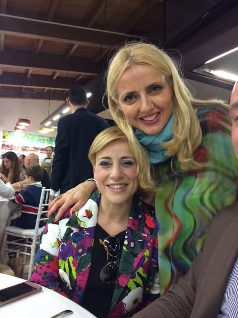 Enrica e Dominga Cotarella che insieme a Marta sono le ideatrici di Intrecci alta formazione di sala