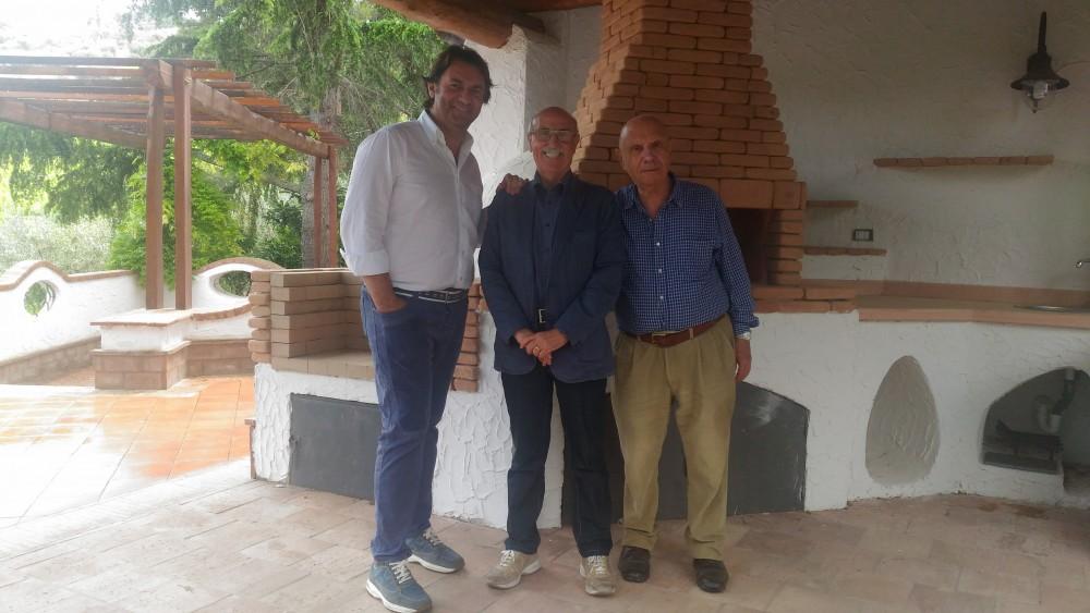 Enrico Malgi tra Paolo ed Antonio Verrone