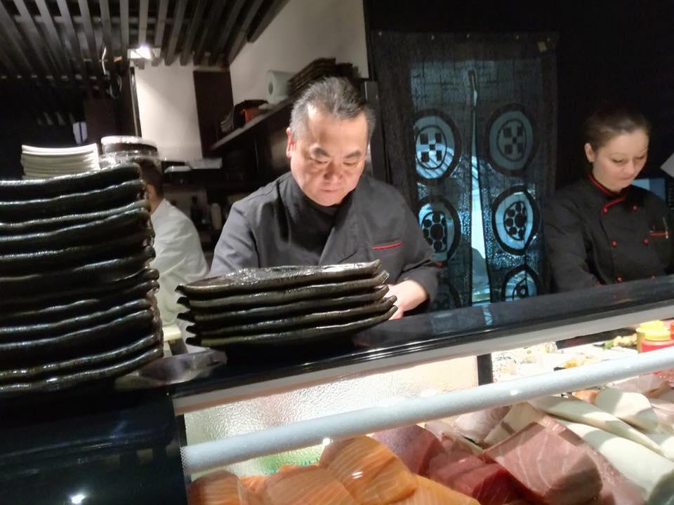 Jap-One, Ignacio Ito At Work. Con La Sous-Chef Irina Advanei