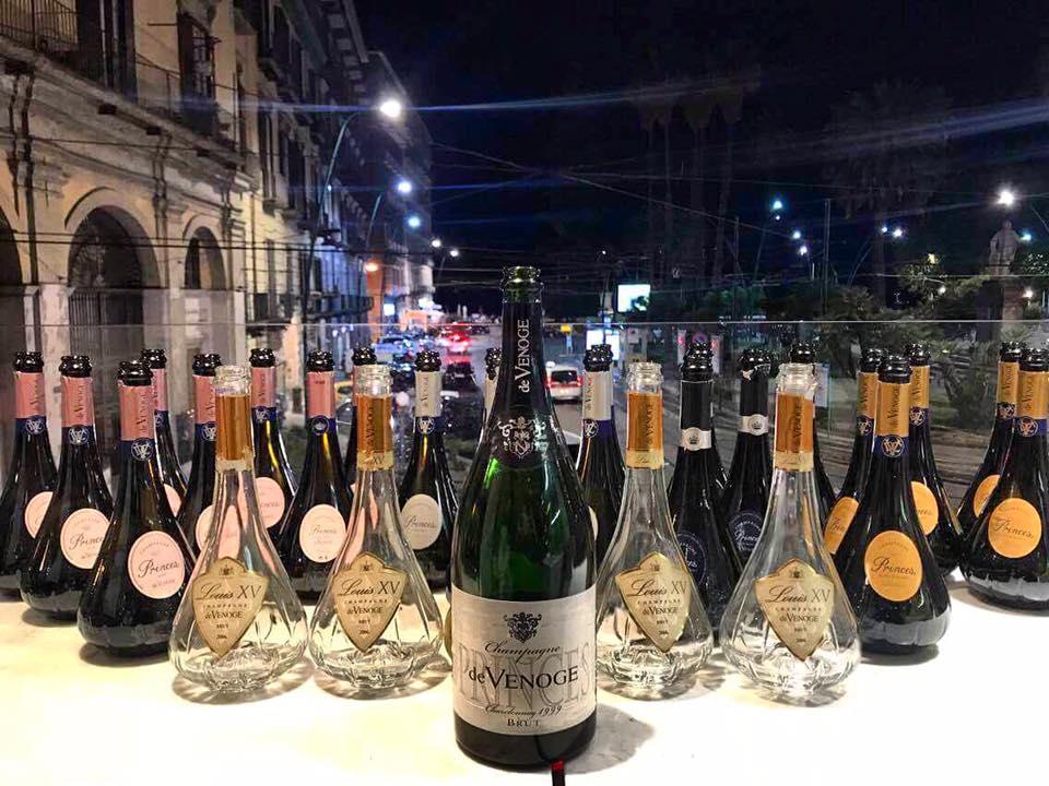 La LineUp Finale Degli Champagne De Venoge