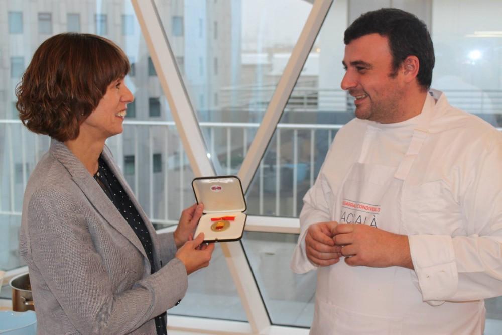 Chef Vincenzo Russo & Guðný Káradóttir,Direttore Alimentazione, Pesca e Agricoltura Del Governo Islandese