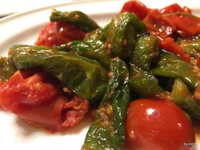 Hostaria dalle  Sorelle Napoli peperoncini verdi