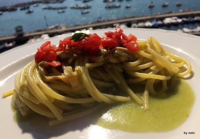 Il Magone Francesca Sotti D'Abbusco spaghetti alla vongole con peperoncini verdi