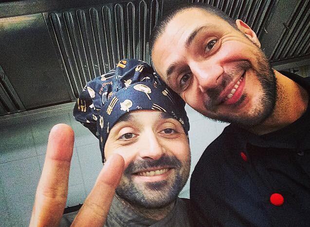 Ke Wine Enzo Farina il cuoco e Antonio Sapio (foto Ke Wine)