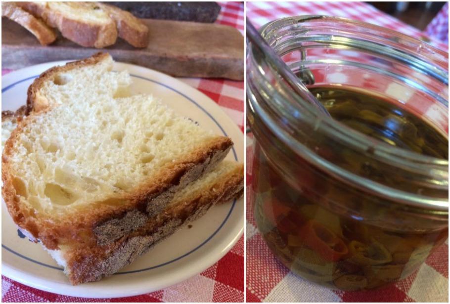La Locandiera, pane di Materia e olio con peperoncino