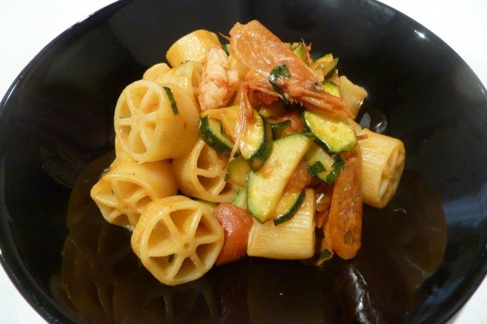 Officina dei Sapori, Biassono, Ruote gamberi, zucchine e pomodorini