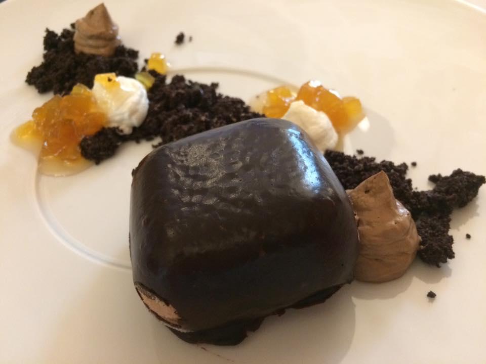 Osteria dei Sassi, dessert ai tre cioccolati