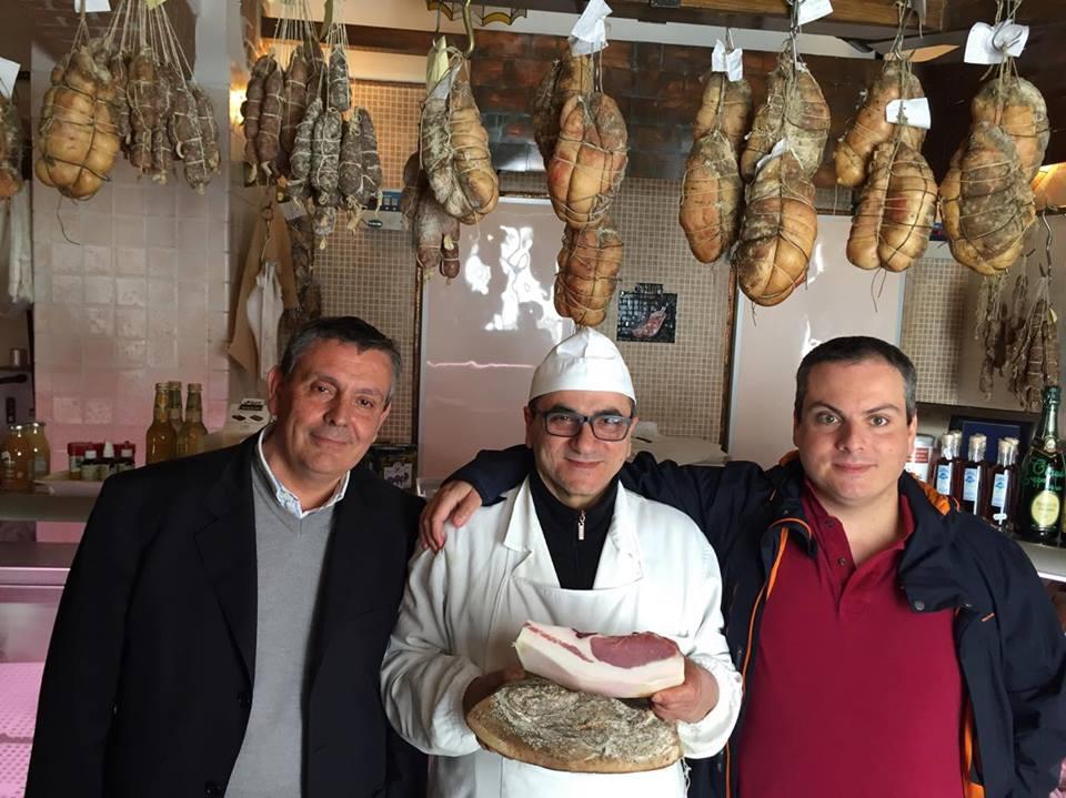 Salvatore Calabrese con l'avvocato Ciociano e Marco Contursi