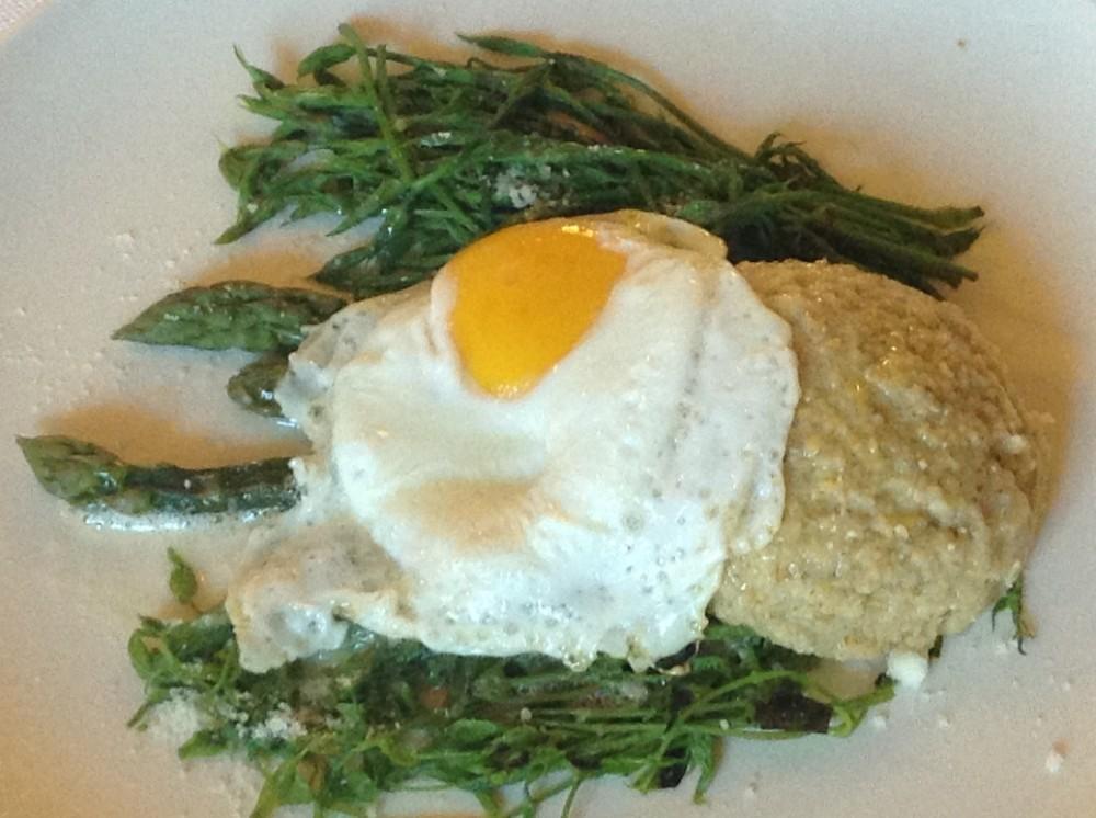 Trattoria, Visconti, germogli di luppolo, asparagi selvatici
