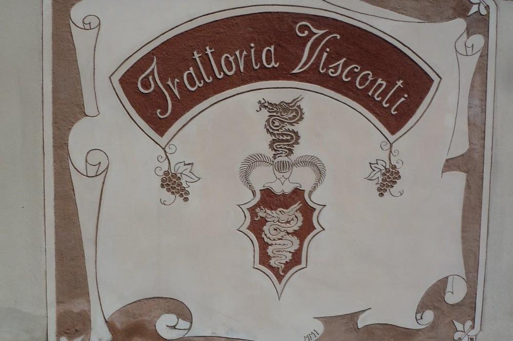 Trattoria Visconti, insegna