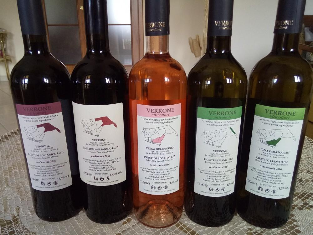 Viticoltori Verrone Controetichette vini di nuove annate