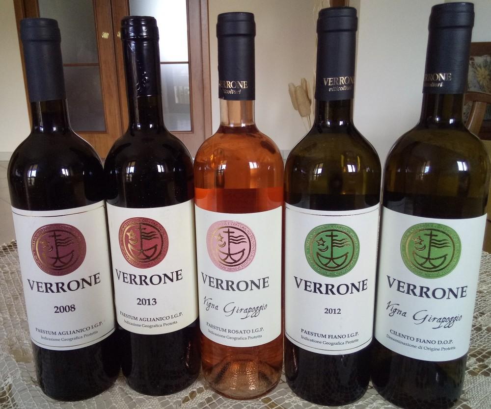 Viticoltori Verrone, Vini di nuove annate