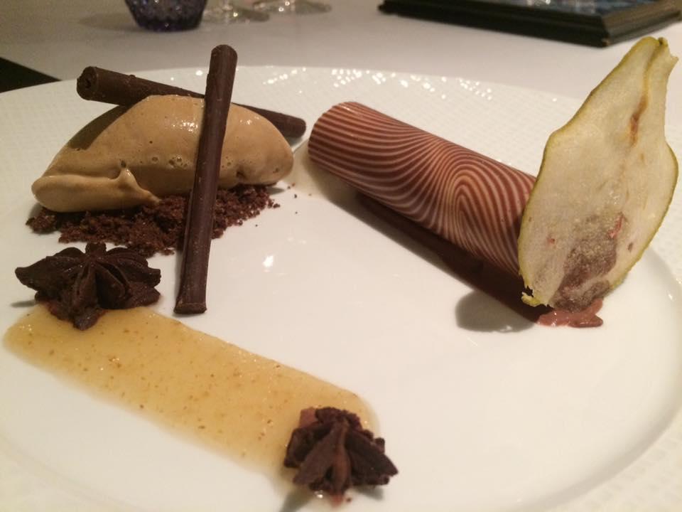 Terrazza Tiberio - cioccolato affumicato con composta di pere