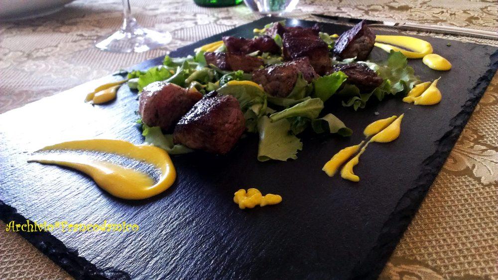 Locanda De Foris – bocconi di bufala con salsa di zafferano