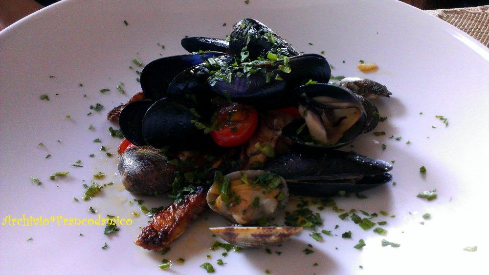 Locanda De Foris – trancio di pescato all'acqua pazza e frutti del mare