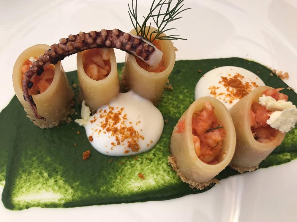 Paccari di Gragnano con ragu' di totano, baccala', friarielli e provola