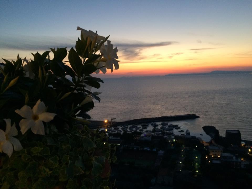 L'Accanto, tramonto dal terrazzo