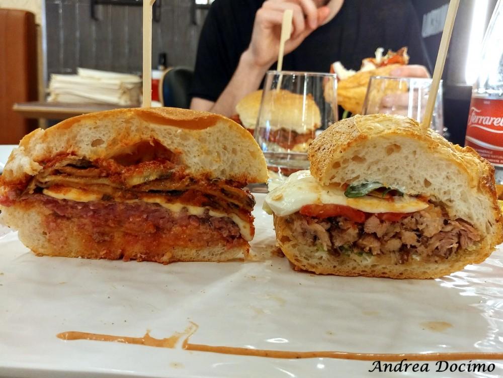 50 Panino di Ciro Salvo. Le sezioni dei due panini