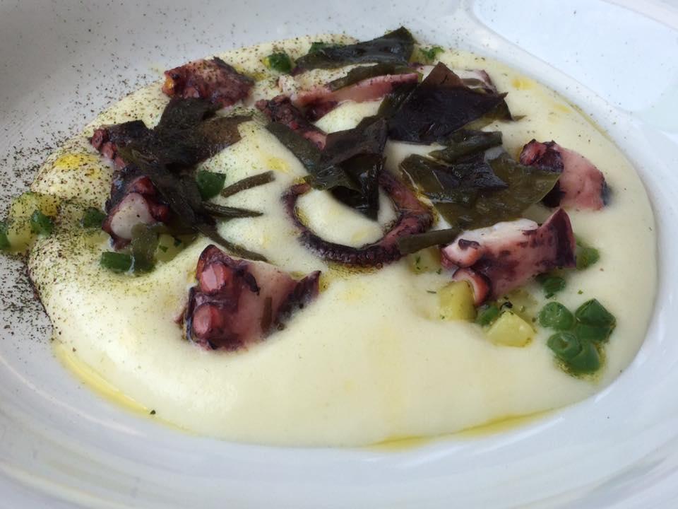 DUBL ristorante, polpo, patate e fagiolini