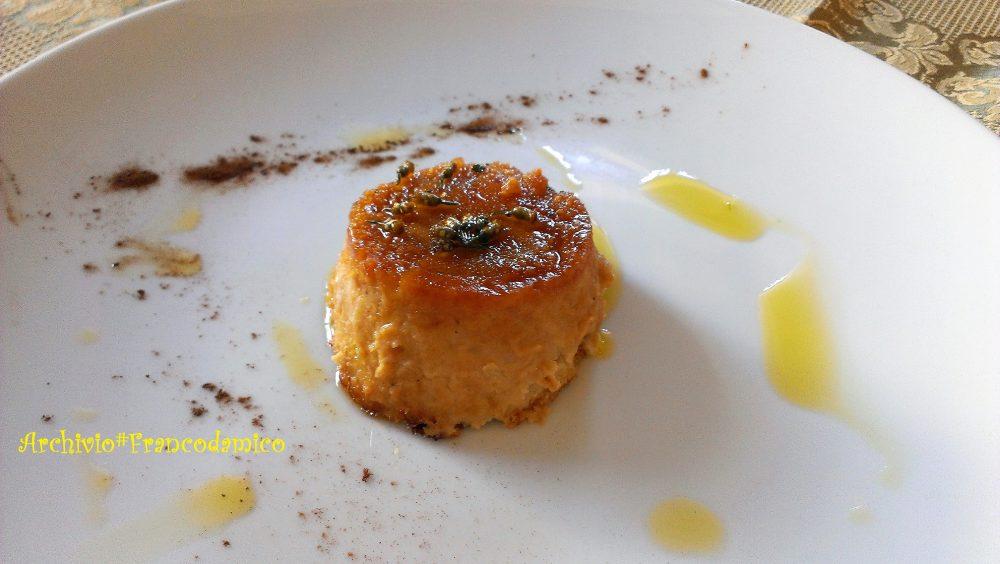 Locanda De Foris – zuccotto di cavolfiore con porcini e mozzarella