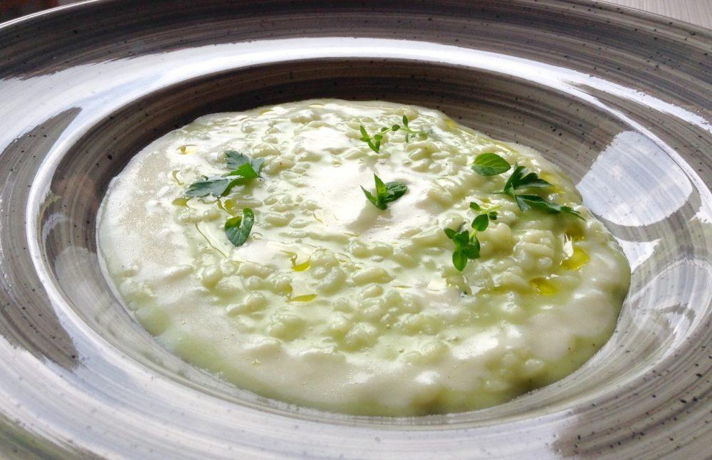 Al Vigneto, Grumello del Monte, carnaroli alle erbe aromatiche e salsa al parmigiano