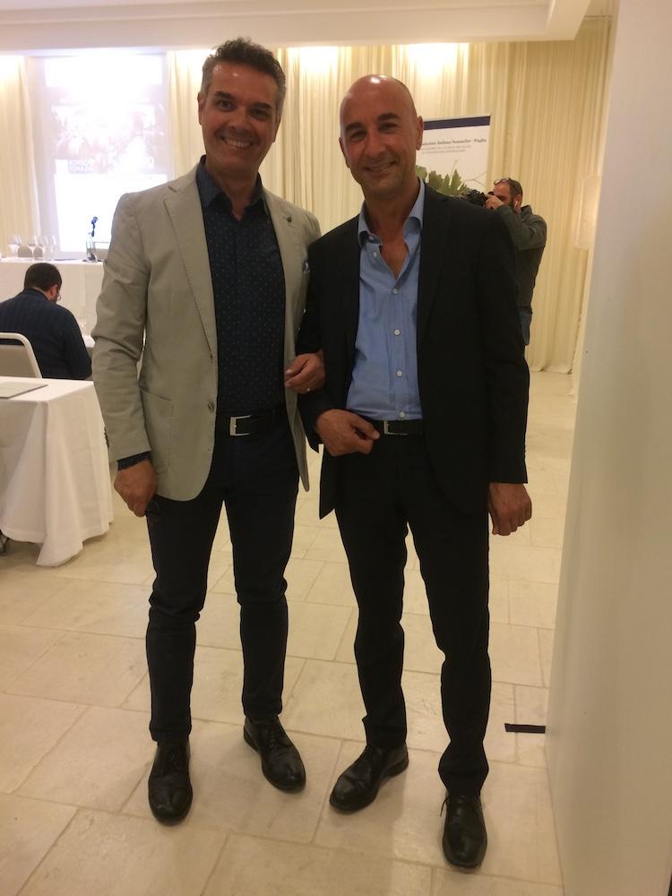 Amici di vino Andrea De Palma e Fabio Manca