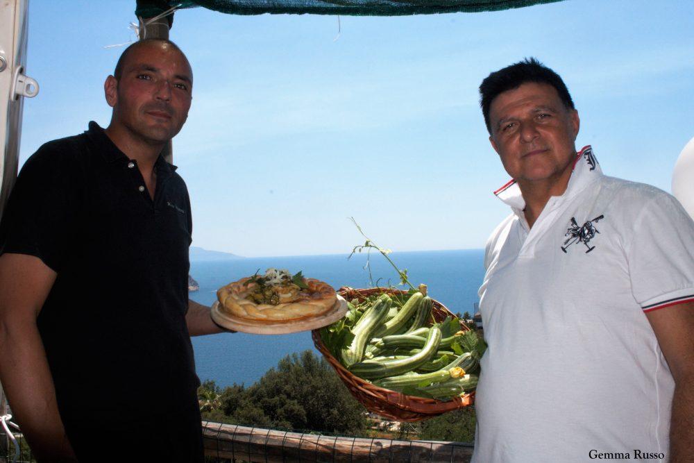 Antonio Iovino e lo chef Salvatore Di Meo